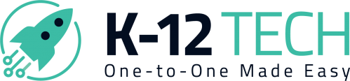 k-12 tech logo horizontal